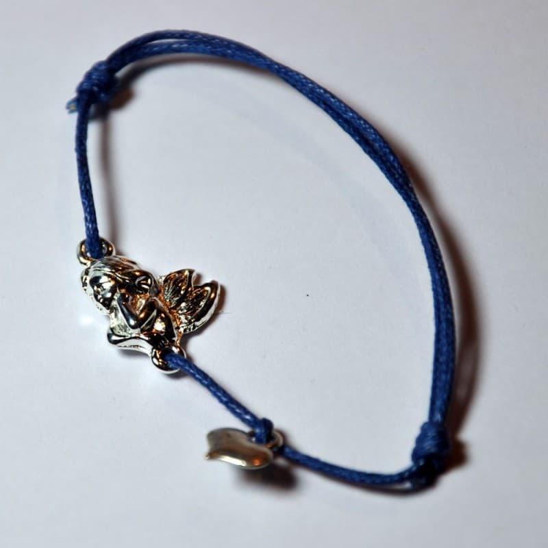 Le Bracelet Ange Gardien Coeur Bleu