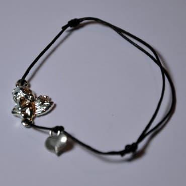 Le Bracelet Ange Gardien Coeur Noir