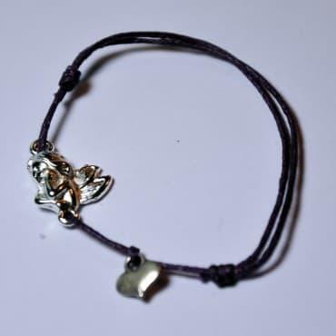 Le Bracelet Ange Gardien Coeur Violet