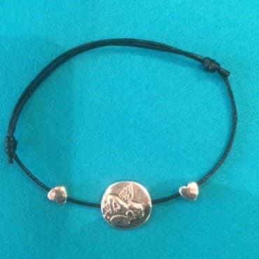 Le Bracelet ange deux coeurs