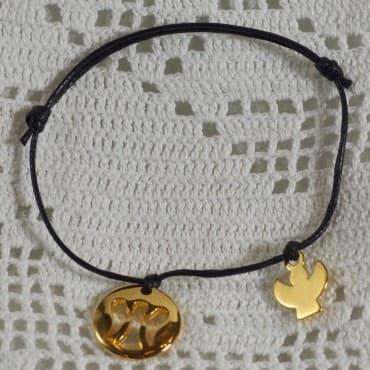 Bracelet Love Love 2 doré