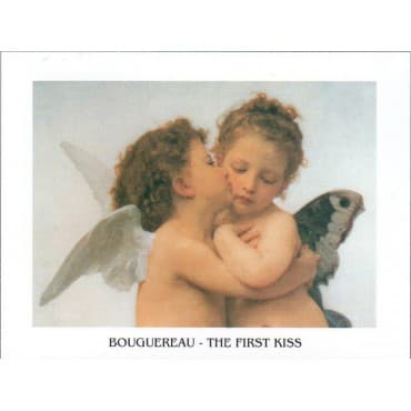 Bouguereau - The First Kiss Zoom 24 x 30 cm