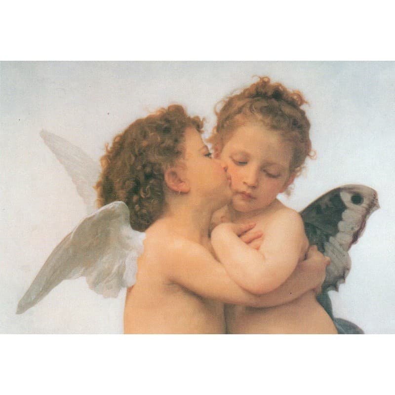 Bouguereau - The First Kiss Zoom 50 x 70 cm