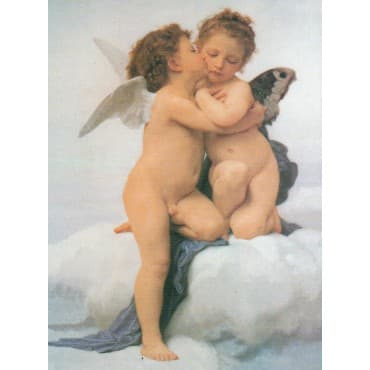 Bouguereau - The First Kiss 50 x 70 cm