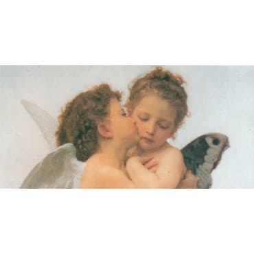 Bouguereau - The First Kiss Zoom 50 x 100 cm