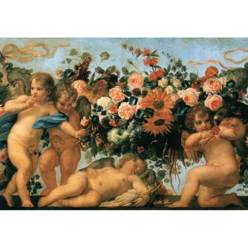 Maratta - Putti e Ghirlande 120 x 90 cm