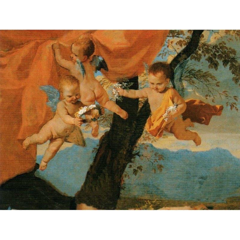 Poussin - Die Heilige Famillie 60 x 80 cm