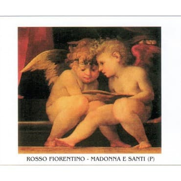 ROSSO FIORENTINO - Madonna e Santi 50x70 cm