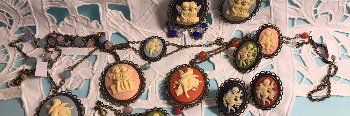 Bijoux Camée Anges • Pendentifs Camées Anges • La Boutique des Anges • Vente d'anges