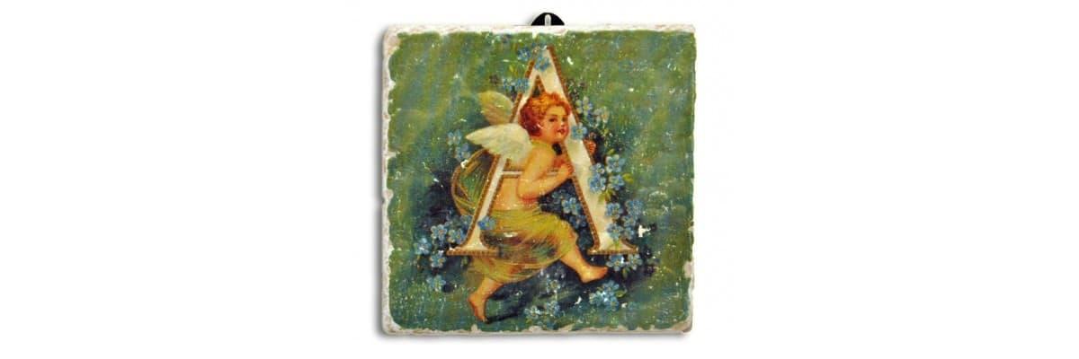 Plaques murales alphabet Anges • La Boutique des Anges • Vente d'anges